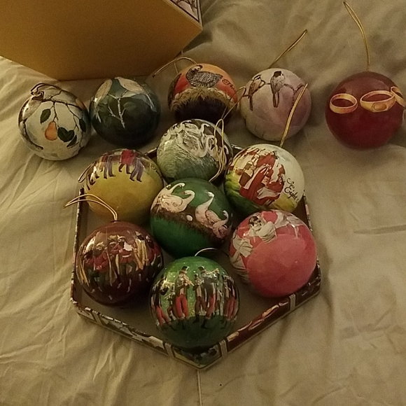 12 Day of Christmas tree ornaments